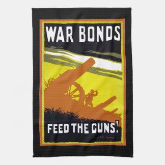 Kriegs-Bindungs~ füttern die Gewehre Küchenhandtuch