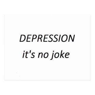 Krise ist es kein Witz Postkarte