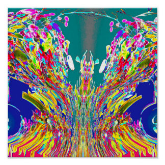 Kristallentwurf digitaler Energiefluß Reiki Poster