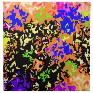 Kristallisierter Farben-Spritzer - warme Farben Serviette