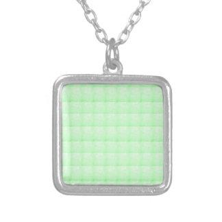 KRISTALLschein-Grün GRUSS-CHARME Billig Halskette Mit Quadratischem Anhänger