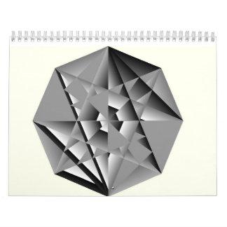 Kristallschlüssel u. mit Federn versehener Kalender