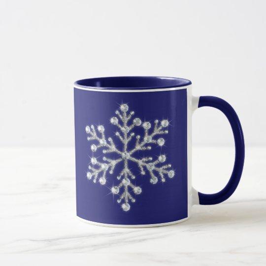 Kristallschneeflocke-Tasse Tasse