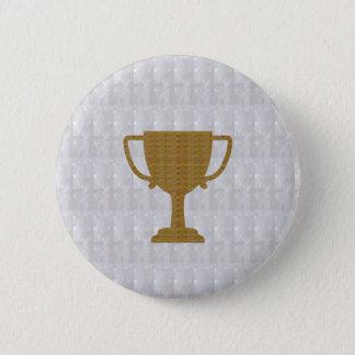 Kristallsieger des GOLDtrophäe-weißer Runder Button 5,1 Cm