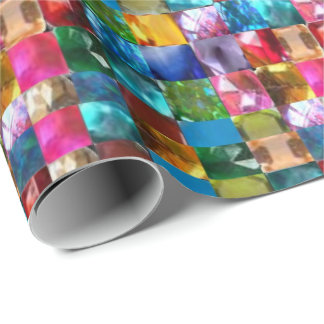 Kristallsteinjuwelmuster Geschenkpapier