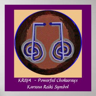 KRIYA - Karuna Reiki heilendes Symbol Poster