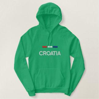 Kroatien-Flagge Bestickter Hoodie