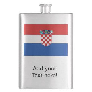 Kroatien-Flagge Flachmann
