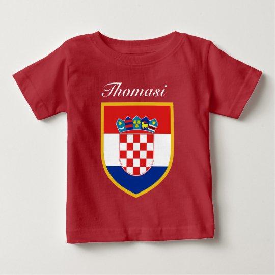 Kroatien-Flagge personalisiert Baby T-shirt