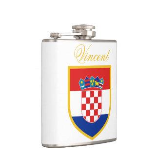 Kroatien-Flagge personalisiert Flachmann