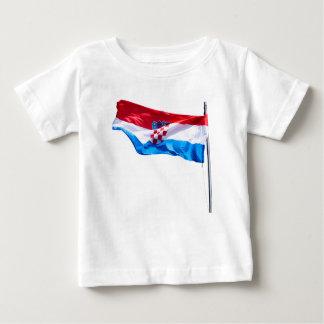 Kroatische Flagge Baby T-shirt