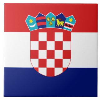 Kroatische Flaggen-Fliese Keramikfliese