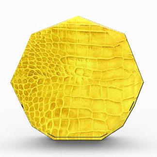 Kroko gelbes Leder Auszeichnung