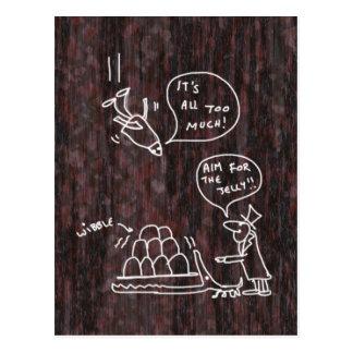 Krokodil-Risse Postkarte