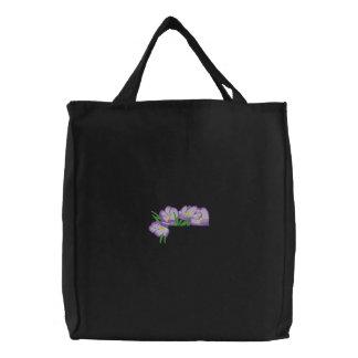 Krokus-Taschen-Deckel Bestickte Tragetasche