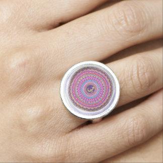 Krone Chakra Mandala-Ring Foto Ring