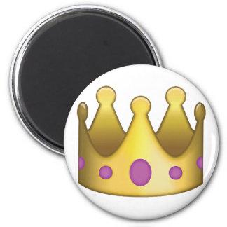 Krone emoji runder magnet 5,7 cm