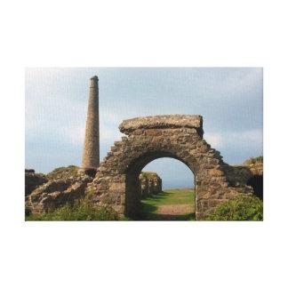 Krone gewinnt Botallack Cornwall England Leinwanddruck