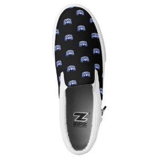 Krone ZipZ Beleg Fräulein-USA blauer auf Schuhen Slip-On Sneaker
