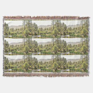 Kronen-König Pond Throw Blanket Decke