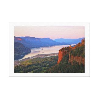 Kronen-Punkt und die Columbia River Schlucht Leinwanddruck