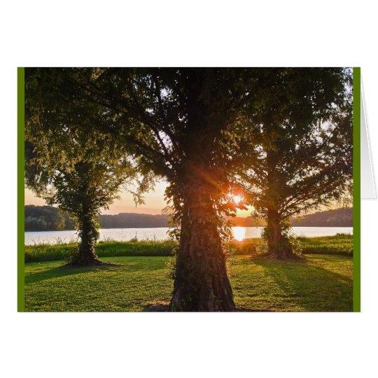 Krönender Ruhm-Sonnenuntergang Grußkarte