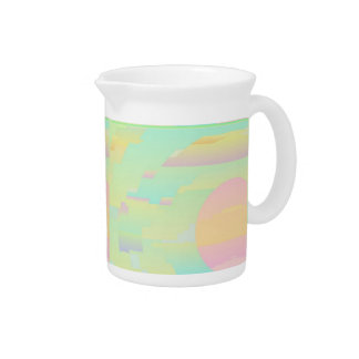 Pitcher with Abstract Sky BeDazzle Art