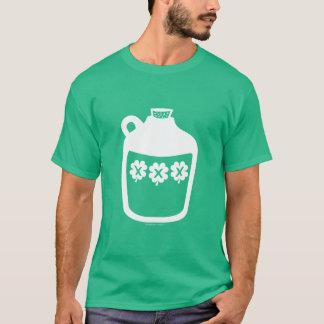 Krug von Moonshine - irische Kleeblätter - Weiß T-Shirt