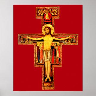 Kruzifix-St. Frances Sans Damiano von Poster