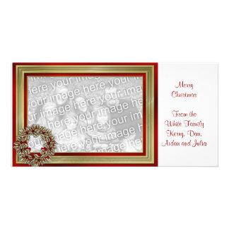 KRW avec le carte photo de guirlande de Noël d'amo Photocartes