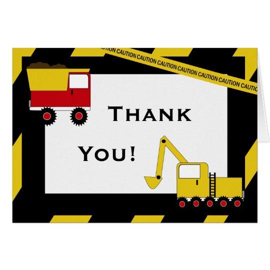 KRW-Bau-LKWs danken Ihnen Anmerkungen Mitteilungskarte