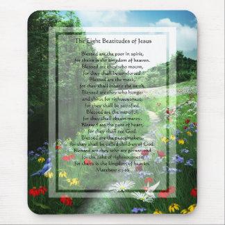 KRW die acht Beatitudes der Jesus-Mausunterlage Mousepads