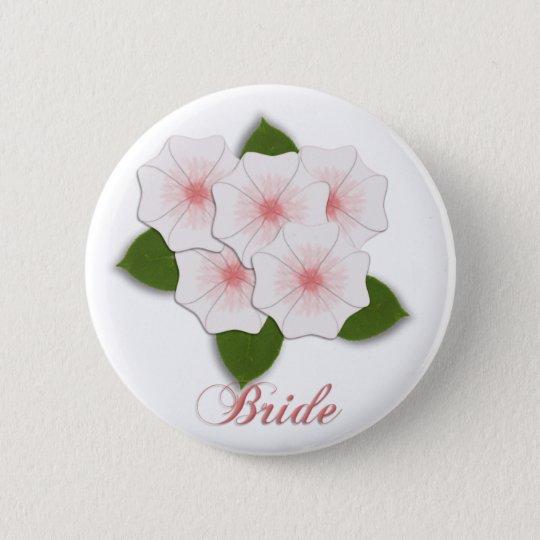 KRW-Kirschblüten-Braut Runder Button 5,1 Cm