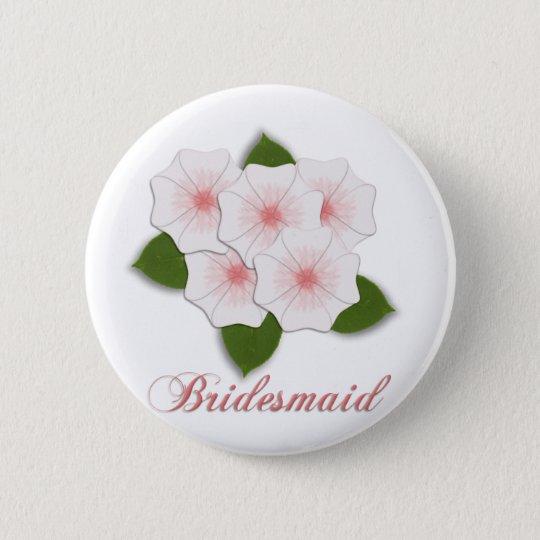 KRW-Kirschblüten-Brautjungfer Runder Button 5,7 Cm