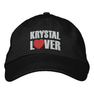 Krystal Liebhaber Bestickte Kappen