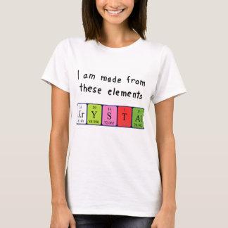 Krystal Namen-Shirt periodischer Tabelle T-Shirt