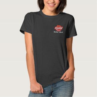 Krystal nichts mögen es besticktes T-Shirt