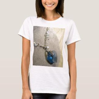 Krystals Blau-Herz T-Shirt