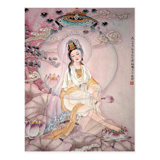 Kuan Yin; Buddhistische Göttin des Mitleids Postkarten
