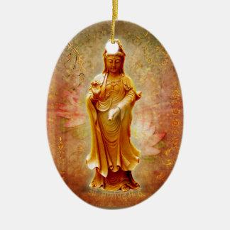 Kuan Yin Keramik Ornament