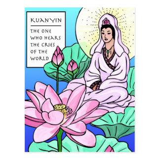 Kuan Yin, Quan Yin, hört Ihre Schreie Postkarte