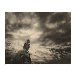 Kuan Yin Statue-Kunst-Fotografie Holzdruck
