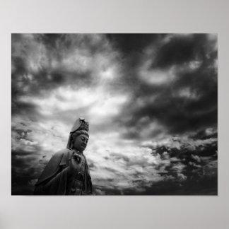 Kuan Yin Statue-Kunst-Fotografie Poster