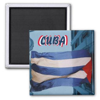 Kuba-Flaggenmagnet Quadratischer Magnet