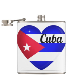 Kuba-Herz-Flagge Flachmann