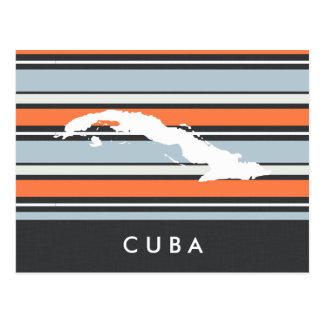 Kuba-Karte: Moderne Streifen Postkarte