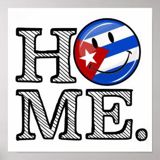 Kubanischer Stolz-lächelnder Flaggen-Haus-Wärmer Poster