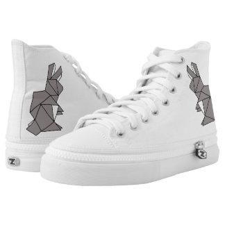 Kubikkaninchen-hohe Spitzen-Schuhe Hoch-geschnittene Sneaker