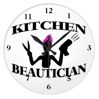 Küchebeautician-zu Hause Stylist Große Wanduhr