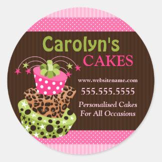 Kuchen-Bäckerei-Geschäfts-Aufkleber Runder Aufkleber